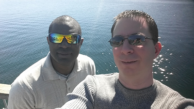 Tony and Ron on Ferry