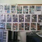 Wall of previz comic