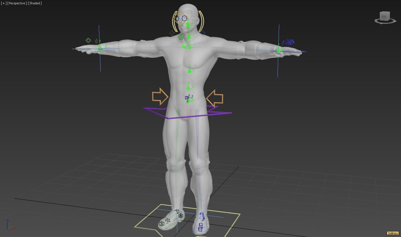Solinox animation rig from Pentavis