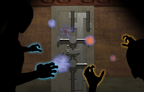 Penergic Energy Flares used to break into a vault