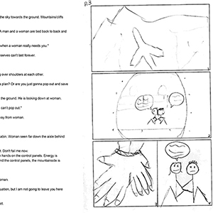 Pentavis Comics script to storyboard blog illustration