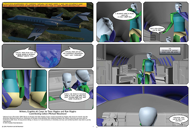 Solinox #1 - previsualization of pages 3 and 4