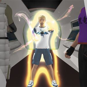 A person using Currents from Force RPG