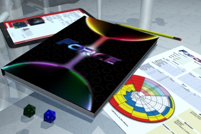 Force RPG materials on a table from Pentavis